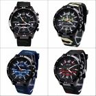 Fashion Unisex Army Military Camouflage Dial Band Analog Quartz Sport Wristwatch