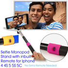 Extendable Handheld Wired Selfie Stick Monopod For iPhone Samsung HTC Phone