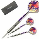 PURPLE TIGERCATS 90% TUNGSTEN DARTS SET - Aluminium Stems + Flights - 26-28g