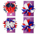 Boutique Patriotic Hairbows NWT 4th of July Party Pageant U PICK FREE HEADBAND