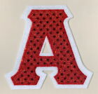 Any Fraternity Sorority Greek IronOn Sequin Bling Letter Patch Alpha-Omega A-Z