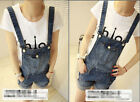 Fashion women Girl Washed Jeans Denim Casual Hole Jumpsuit Romper Overall Short