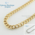 """24""""men stainless steel 6mm Gold Silver Black cuban curb Necklace Chain Jewelry"""