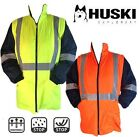 Mens EN471 High Visibility Security Padded Jacket Hi Viz Removable Sleeves Coat