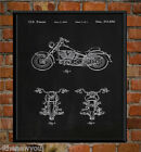 1993 Harley Davidson Old Motorcycle Chalkboard Art Poster Patent Print Gift Idea £15.97 GBP on eBay