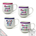 Worlds Best Mugs - Novelty Gifts Cool Xmas Birthday Present Family Home Coffee