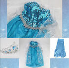 Girls Elsa Costume Anna Princess Ice Queen Party Dresses Outfit Kids Cosplay