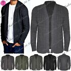 Mens Cable Knitted Designer Jacket Sweater Open Front Shawl Jumper Cardigan