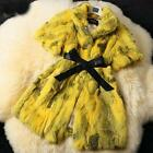 Best Sale Women's 100% Real Farm Rabbit Fur Short Sleeve Coat Jacket Vest Pink