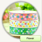 100Yards/roll Grosgrain Ribbon Printed Multicolor-Dots/Flowers Cloth Accessories