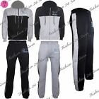 Mens Contrast DLX Project Jacket Hood Zip Up Jogging Sweatpants Fleece Tracksuit