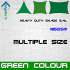 Outdoor Sun Shade Sail - Green Colour Triangle Square Rectangle Canopy 185gsm
