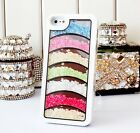 Luxury Bling Crystal Diamonds Rainbow Cases Covers For iPhone5 5S 4 4S 5C SCH