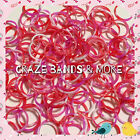 2014 Swirly Camouflage Red White Pink Tie Dye Color Rubber Band 4 Rainbow Loom