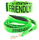 Dog Collar Leash Nylon 2 4 6 Foot Comfort Grip Handle Color Coded Green FRIENDLY