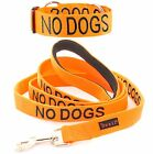 Color Coded Collar Leash NO DOGS Orange Not Good With Other Dogs Safety Warning