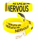 Dog Pet Collar Leash Set Color Coded Yellow Warning NERVOUS Heavy Duty Safe Walk
