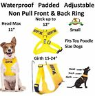 Dog Soft Vest Harness Non Pull Front Back Ring ADOPT ME Yellow Padded Waterproof