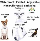 Vest Harness Color Coded Non Pull Front Back Clip BLIND DOG Waterproof Padded