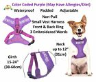 Dog Vest Pet Harness Color Coded Do Not Feed Purple Padded Waterproof Awareness