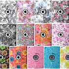 360 Rotating Flowers Case Smart Stand Cover For IPad 2/3/4 / AIR 1 2 /MINI1/2/3