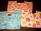 NWT Carter's Girls Pajama Pants Size 4 or 6 Crabs Flowers Princess Ruffle at leg