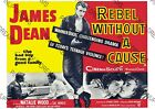 Movie Wall Art Poster Vintage Rebel Without a Cause James Dean re-print