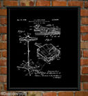 Hi Hat Cymbals Chalkboard Wall Art Poster Patent Print Christmas Gifts idea