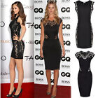Women Sexy Celeb Ladies Lace Party Bodycon Pencil Gown Cocktail Evening Dresses
