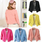 Fashion Womens Ladies Casual Korea Solid Slim Casual Suit Blazer Coat Jacket
