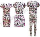 NEW GIRLS GRAFFITI SCRIBBLE PRINT CROP TOP MIDI DRESS SKIRT LEGGING 7-13 YEARS