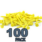 100PCS WOODEN GOLF TEES NATURAL COLOURED SMALL LARGE ON COURSE  ACCESSORY