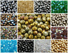 CHOOSE COLOR! 25pcs 8mm Czech Glass Fire Polished Beads Round $3.3 USD
