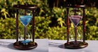 60min Wood Vintage Antique Sand Glass Sandglass Hourglass Timer Clock Time Decor