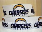 """SAN DIEGO CHARGERS NFL GROSGRAIN  RIBBON 22 MM (7/8"""")  WIDTH 10, 15 YARDS #3"""