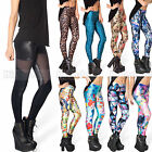 Punk Sexy Women 3D Print Leggings Stretchy Jeggings Skinny Tight Pencil Pants WY