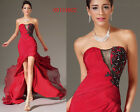 eDressit Strapless Sexy Split Lace Red Evening Dress Party Ball Gowns UK 6-20