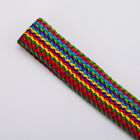 Neotrims Vibrant Multi Colour Textured Crochet Weave Ribbon Trimming Braid, 2cms