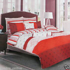 GRANDIOSE STRIPE PRINTED DUVET COVER WITH PILLOW CASE QUILT COVER BEDDING SET