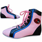 Ladies Leather Boxing Shoes / Boots Anklet Boots Pink-White-Blue  ALL SIZES