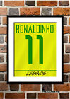 BRAZIL 2002 WORLD CUP FOOTBALL SHIRT PHOTO PRINT FRAMED(RONALDO RIVALDO CAFUetc)