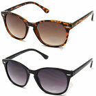 Ladies Womens UV400 Vintage Retro Wayfarer Sunglasses Designer Brown Black