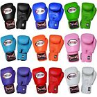 New Twins Special Muay Thai Kick Boxing Gloves Leather Fighting : 8oz -16oz