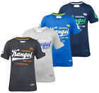 New Mens Kangol Branded Number Printed Crew Neck Short Sleeve T-shirt Casual Top