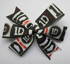 One Direction Hair Bows - 1D Clips Or Bobbles -  Black and Red or Pink