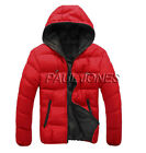 Winter Fashion Mens Coat Casual Dress Padded Warm Jacket Ski Style Hoodies Coats