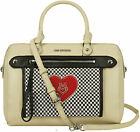 Love Moschino Faux Leather Check Bowling Bag