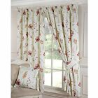 Ellie Floral Print Pencil Pleat Curtains, Terracotta - 7 Sizes Available