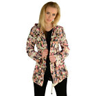 Layla Floral Fishtail Mac Raincoat  Womens Size