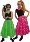 Girl's Polka Dot Rock & Roll 50s Skirt. Dance Show/ Fancy Dress Costume. 5-8 yrs